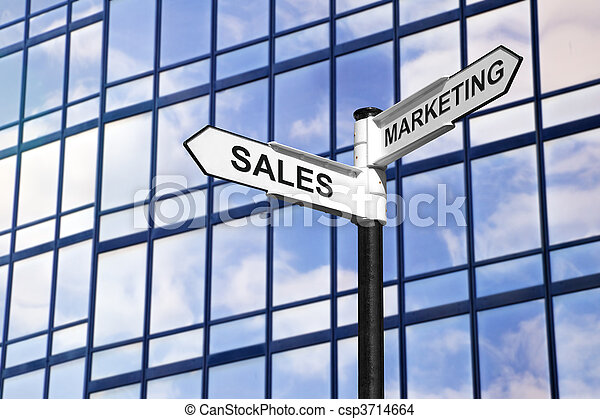 Sales & Marketing business signpost - csp3714664