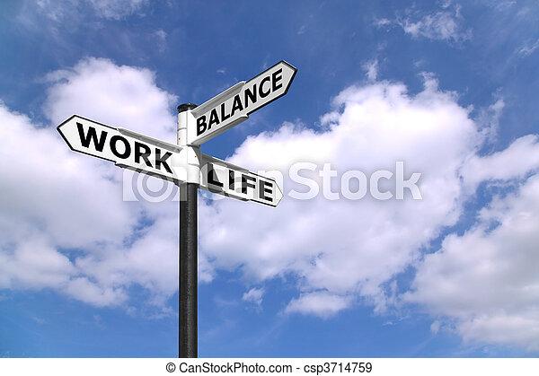 Work Life Balance signpost - csp3714759