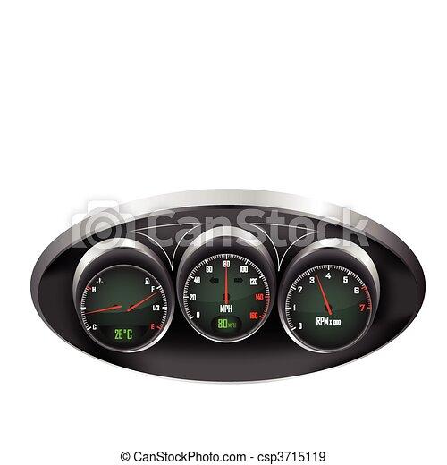 Car Dashboard Dials - csp3715119