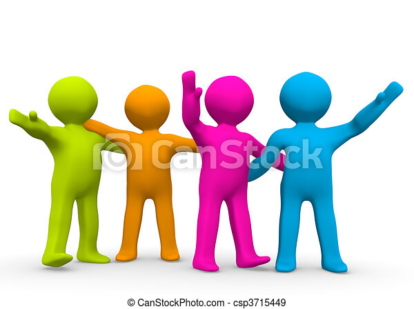 Clip Art Team Clip Art team clipart and stock illustrations 286157 vector eps the right a small group of colourful people