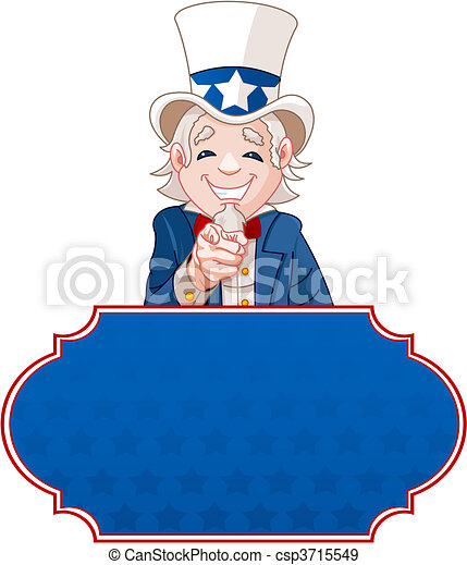 Uncle Sam Wants You! - csp3715549