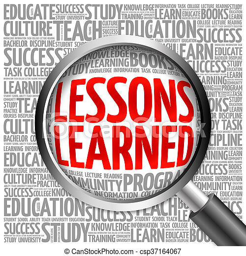 lessons learned word cloud royalty free stock image