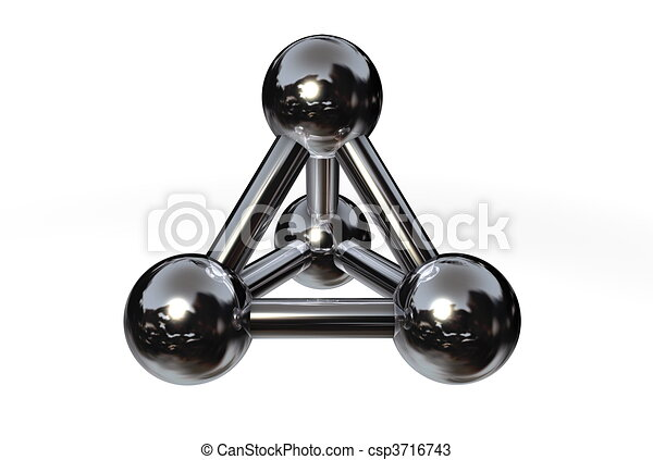 Molecule Structure Chrome/Silver/Steel II - csp3716743