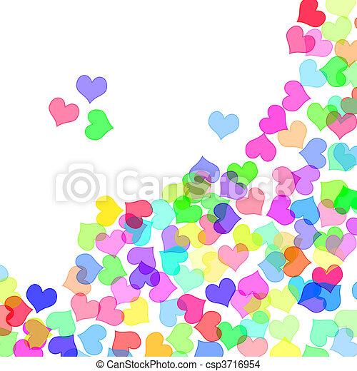 corazones de colores fondo - photo #9