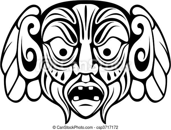Ancient mask - csp3717172