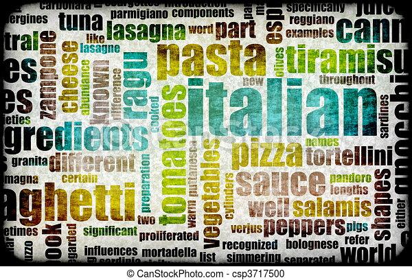 Italian Cuisine - csp3717500