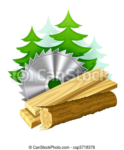 icon for woodworking industry - csp3718376
