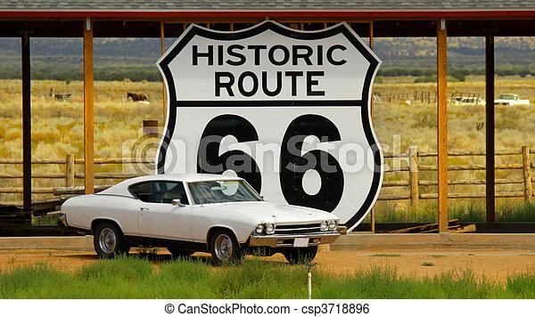 Historic Route 66 - csp3718896