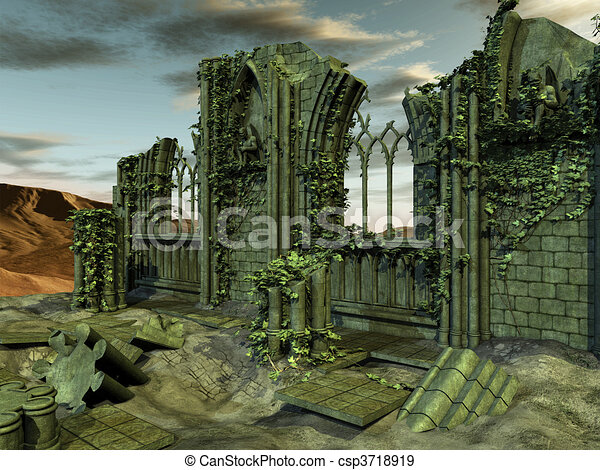 Gothic Background - csp3718919