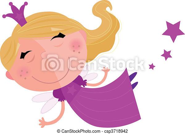 Cute Fairy Princess Character - csp3718942