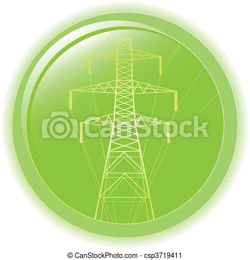 silhouette of high voltage electric - csp3719411