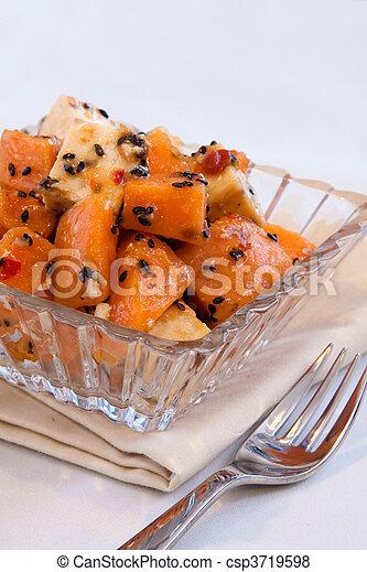 Vegan Papaya and Tofu Salad - csp3719598