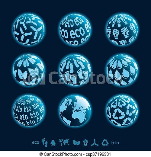 Eco planet icons - csp37196331