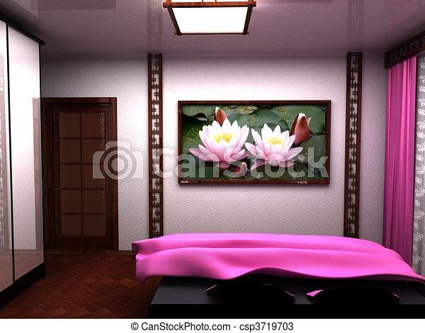 Tekeningen van slaapkamer een mooi interieur kamer een illustratie csp3719703 zoek naar - Upgrade naar een kamer ...