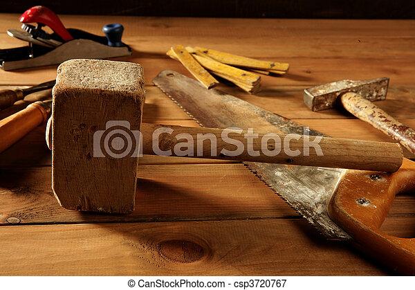 craftman carpenter hand tools artist - csp3720767