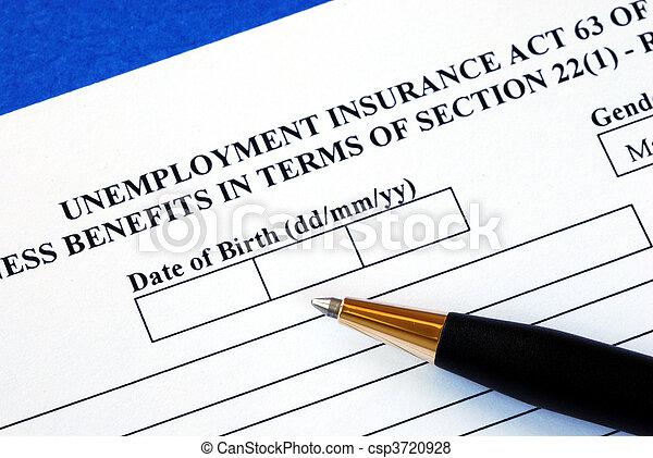 Apply unemployment insurance - csp3720928
