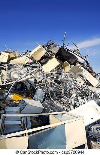 碎片, 金屬, 工廠, 環境, 生態, 再循環 - csp3720944