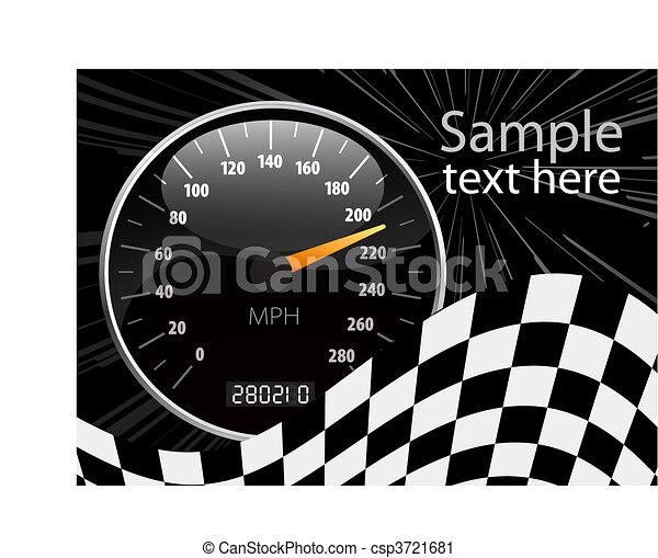 Speedometer vector illustration - csp3721681