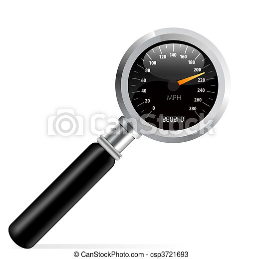 Speedometer in magnifier vector - csp3721693