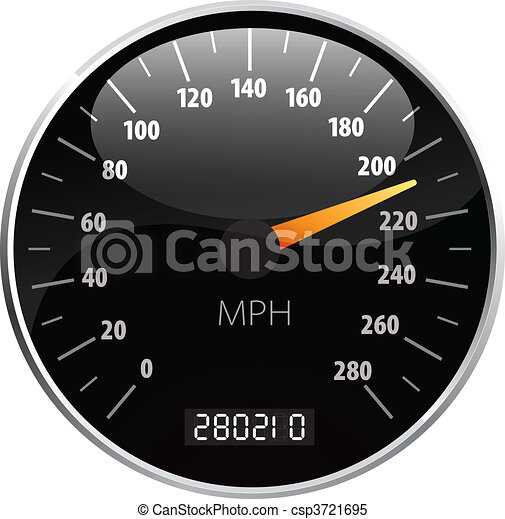 Speedometer vector illustration - csp3721695