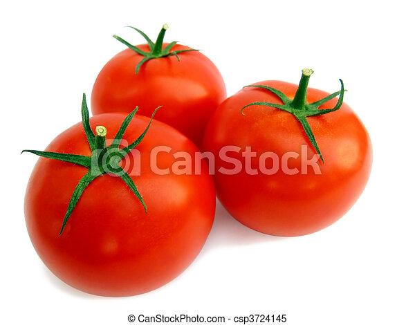 Fresh tomato isolated - csp3724145