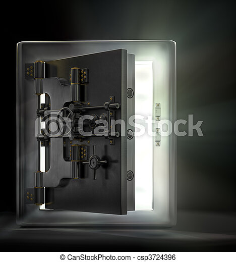 Opening the vault - csp3724396