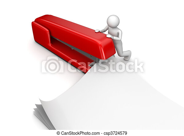 Business collection - Stapler - csp3724579