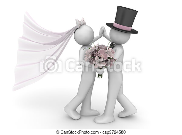 Lifestyle collection - Newlyweds dance - csp3724580