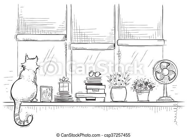 Clipart vettoriali di c te schizzo amore illustrazione for Schizzo di piani di casa gratuiti