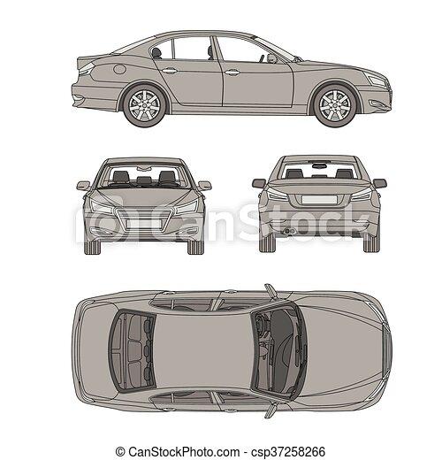 clip art vecteur de plan dessiner formulaire voiture ab mer ligne tout csp37258266. Black Bedroom Furniture Sets. Home Design Ideas