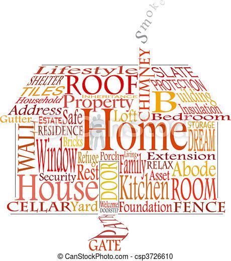 Home words - csp3726610