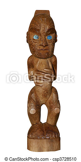 Traditional Maori Carving - csp3728510