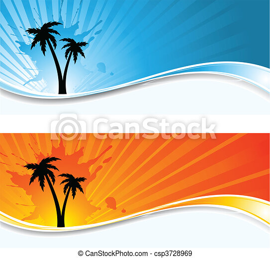 Palm tree backgrounds - csp3728969