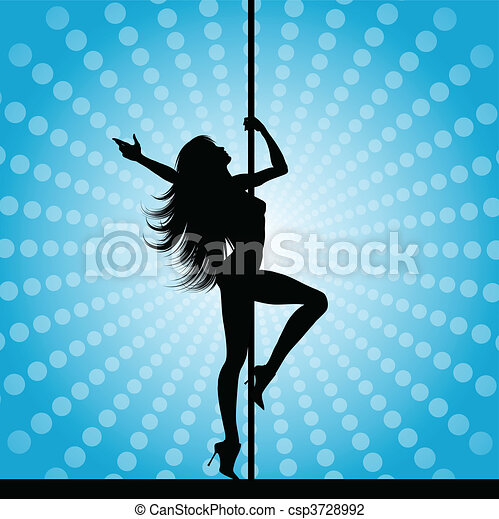 pole dancer - csp3728992