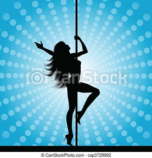 pole dancer - csp3728992