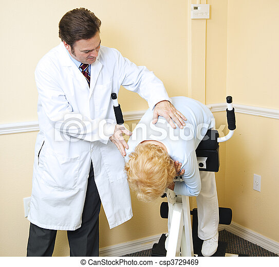 lesión, rehabilitación, espalda - csp3729469