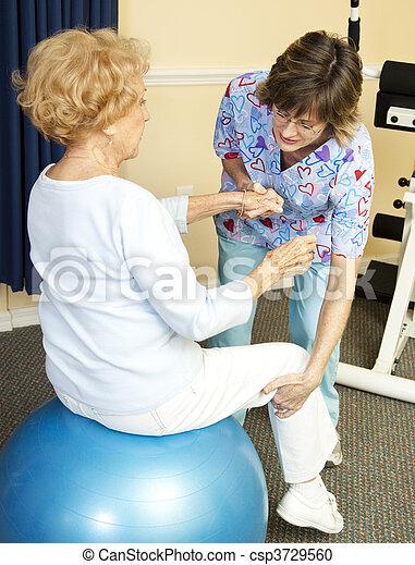 terapia, palla, yoga, fisico - csp3729560