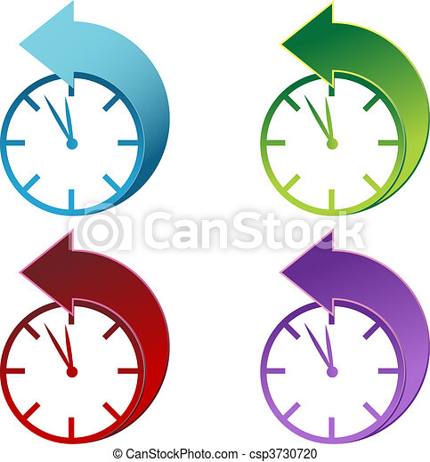 Daylight Savings Time Clock  - csp3730720
