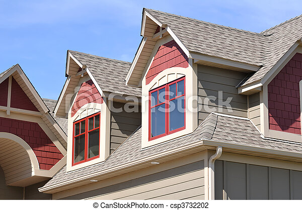 Gable Dormers on Residential Home - csp3732202