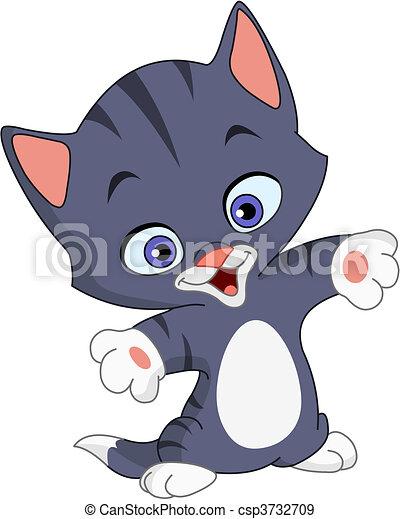 Cheerful kitten - csp3732709