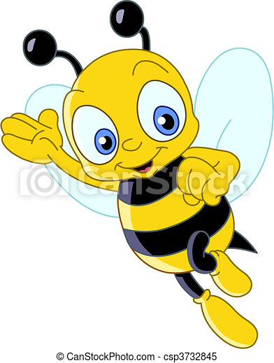 Cute bee - csp3732845