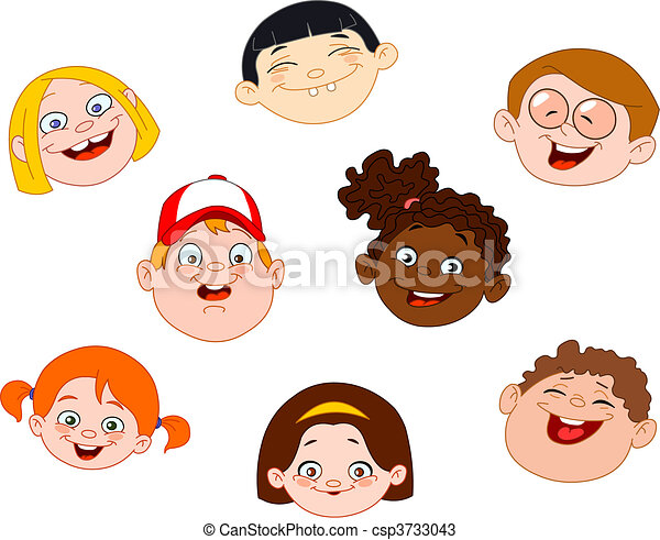 Kids faces - csp3733043