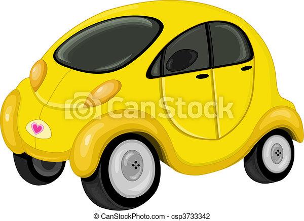 Vector Illustration of Cute car - Cute mini car csp3733342 ...