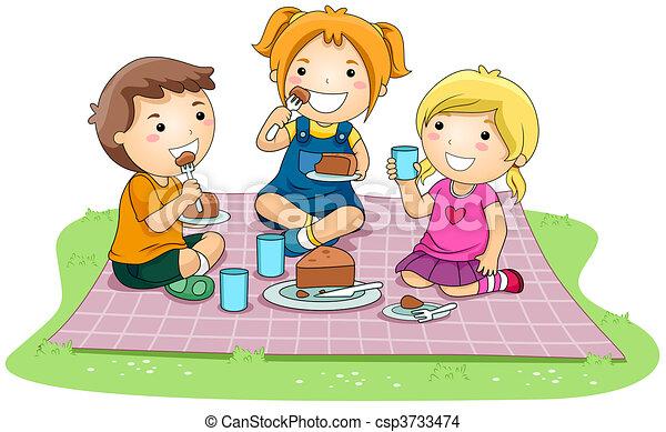 Eating Cake - csp3733474