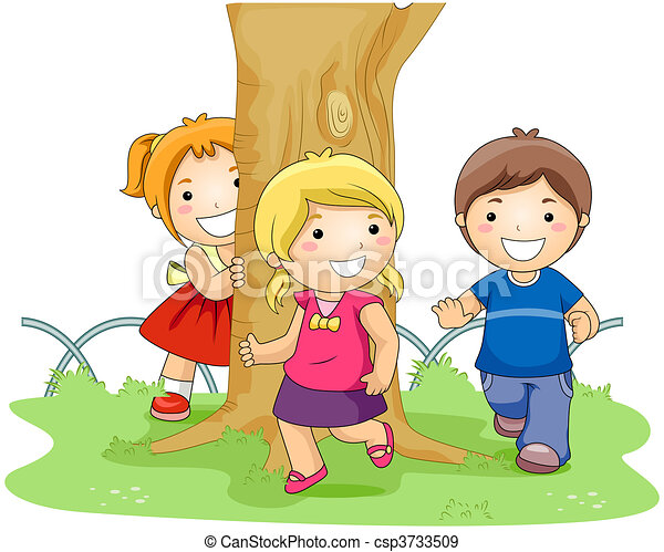 stock illustration of playing tag children playing tag in the park csp3733509 search vector free clip art laser tag laser tag clip art transparent