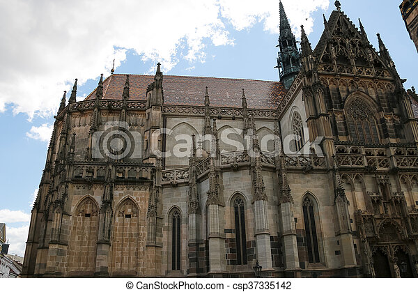 Cathedral of Saint Elizabeth in Kosice, Slovakia. - csp37335142