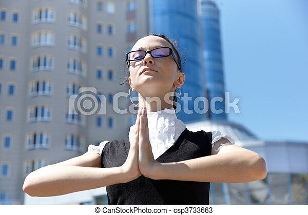 Business meditation - csp3733663