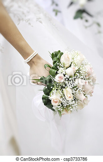 Focus on Bridal bouquet - csp3733786