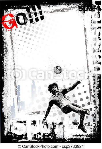 dirty soccer background 3 - csp3733924