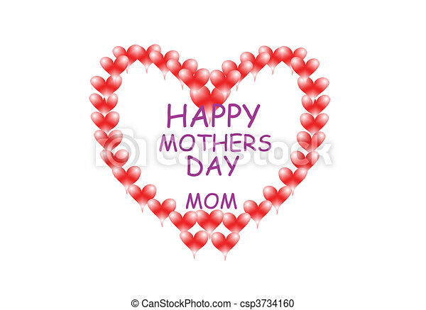 giant mothers day heart - csp3734160
